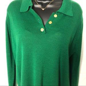 Green Nina Patrick lightweight sweater